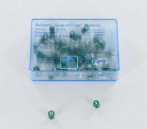 KERRHAWE SUPERCAP MATRIX TRANSPARANT GROEN 6,3mm/0,050mm NR.2172 (50st)