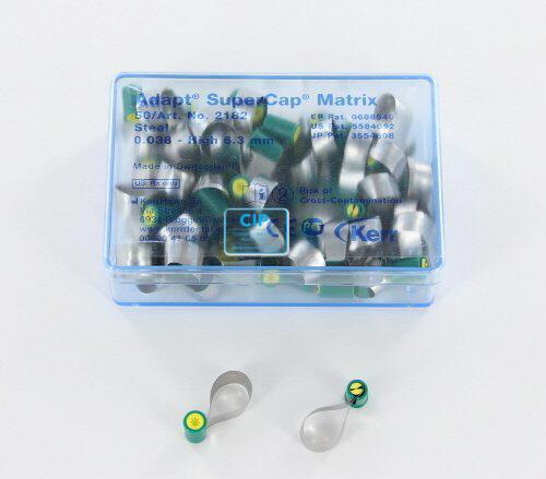 KERRHAWE SUPERCAP MATRIX METAAL GROEN/GEEL 6,3mm/0,038mm NR.2182 (50st)