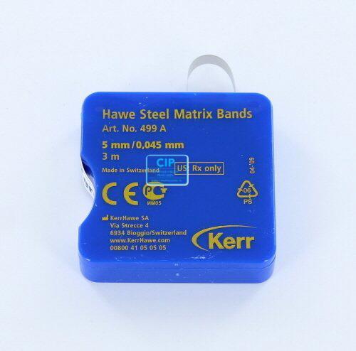 KERRHAWE MATRIXBAND OP ROL DUN 0,45mm/5mm NR.499A (3mtr)