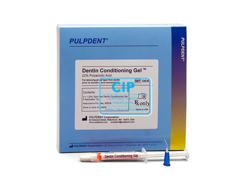 PULPDENT DENTIN CONDITIONING GEL 22% POLYACRYL ACID (4x1,2ml/tips)