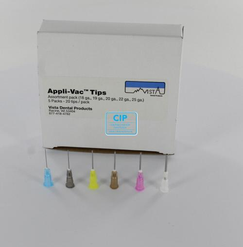 VISTA APPLI-VAC 3/4 BENDABLE TIPS ASSORTED (5x20st/18G,19G,20G,22G,25G)