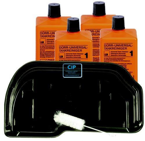 DÜRR PERIO-CLEAN SET COMPLEET MET BAK (Reiningingsbak, 2 Flacons Universal tankreiniger, reinigingsborstel)