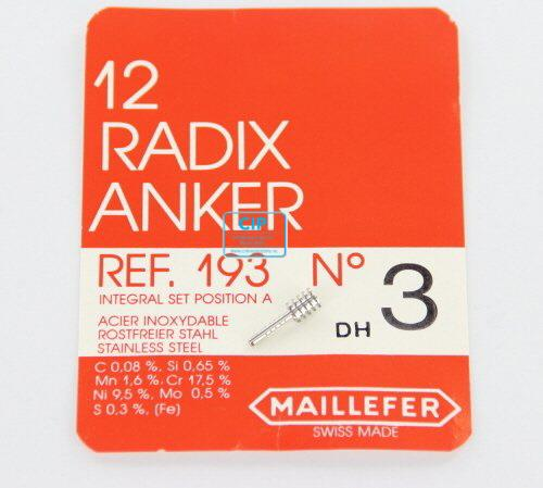 MAILLEFER RADIX ANKERS REFILL NR.3 BLAUW