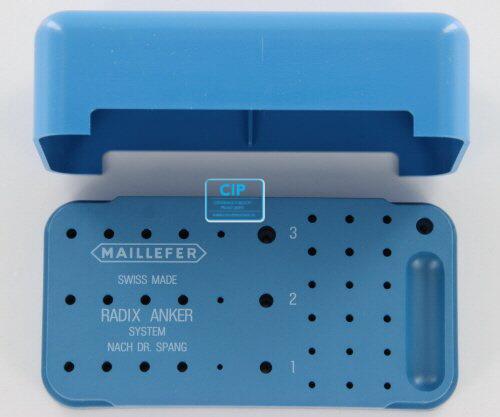 MAILLEFER RADIX ANKER STERILISATIE-CONTAINER PLASTIC LEEG C218P