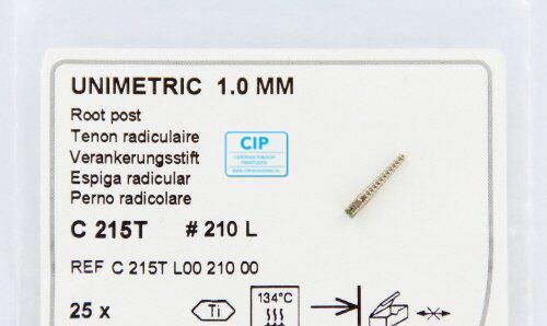 MAILLEFER UNIMETRIC 1,0mm TITANIUM STIFTEN LANG GROEN