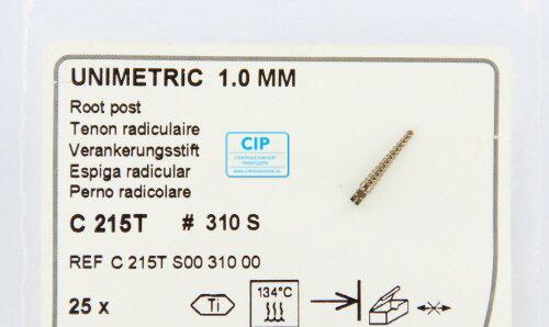 MAILLEFER UNIMETRIC 1,0mm TITANIUM STIFTEN KORT ZWART