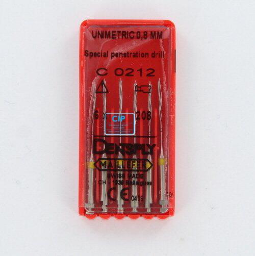 MAILLEFER UNIMETRIC 0,8mm PENETRATIEBOOR GEEL (6st)
