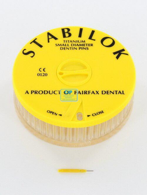 FAIRFAX STABILOK SMALL GEEL JUMBO TITANIUM (100st)