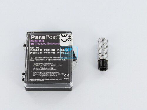 WHALEDENT PARAPOST XT STIFTEN P686-0 ZWART (10st)