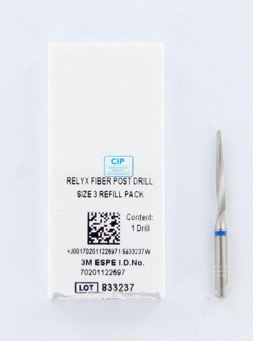 3M ESPE RELYX FIBERPOST BOOR NR.3 BLAUW 1,9mm (1st)