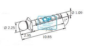 CENDRES METAUX DALBO-ROTEX STIFT MET KORTE KOP 10,85mm NR.15.41.2GT (5st)