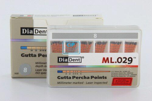 DIADENT GUTTA PERCHA POINTS COLOR-CODED NR.08 GRIJS (120st)