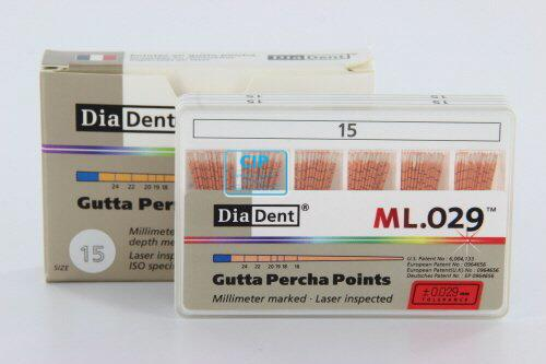 DIADENT GUTTA PERCHA POINTS COLOR-CODED NR.15 WIT (120st)