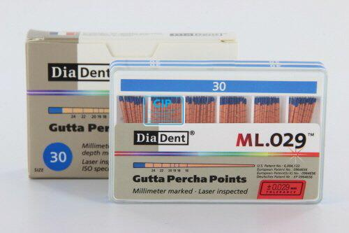 DIADENT GUTTA PERCHA POINTS COLOR-CODED NR.30 BLAUW (120st)