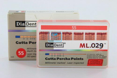 DIADENT GUTTA PERCHA POINTS COLOR-CODED NR.55 ROOD (120st)