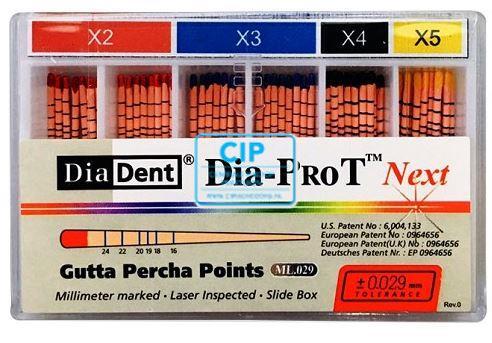 DIADENT GUTTA PERCHA POINTS DIA-PROT NEXT X4 ZWART (60st)