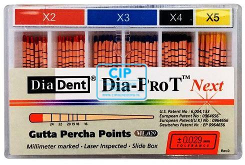 DIADENT GUTTA PERCHA POINTS DIA-PROT NEXT X5 GEEL (60st)