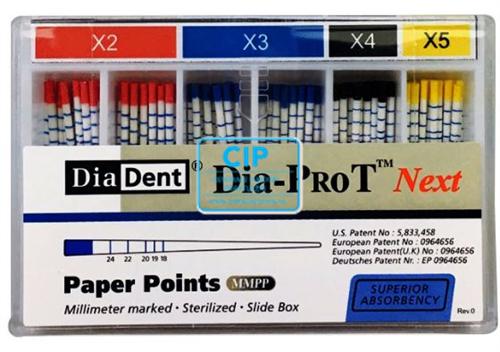 DIADENT PAPER POINTS DIA-PROT NEXT X2-X3 ASSORT (60st)