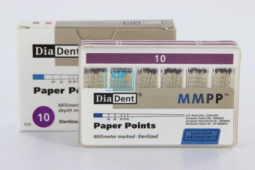 DIADENT PAPERPOINTS COLOR-CODED NR.10 PAARS (200st)