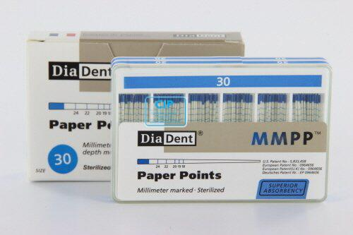 DIADENT PAPERPOINTS COLOR-CODED NR.30 BLAUW (200st)
