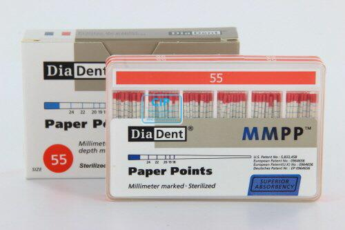 DIADENT PAPERPOINTS COLOR-CODED NR.55 ROOD (200st)