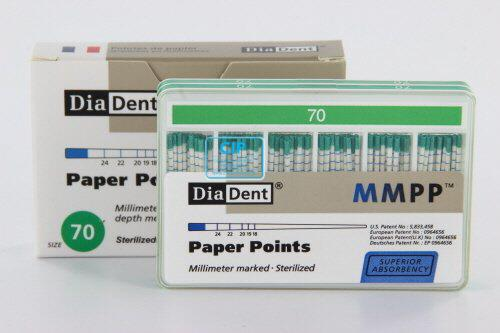 DIADENT PAPERPOINTS COLOR-CODED NR.70 GROEN (200st)
