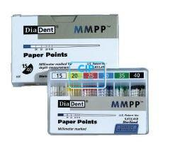 DIADENT PAPERPOINTS ASSORTED COLOR-CODED NR.90-140 (200st)