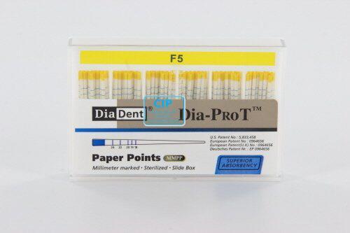 DIADENT PAPERPOINTS VOOR PROTAPER F5 GEEL (100st)