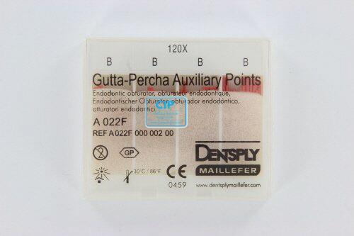 MAILLEFER GUTTA PERCHA HULPSTIFTEN (AUXILIARY POINTS) B 120st