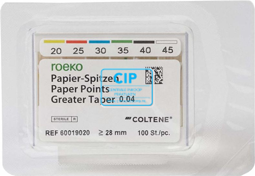 ROEKO PAPERPOINTS GREATER TAPER .04 ASSORTED 20-45 (100st)