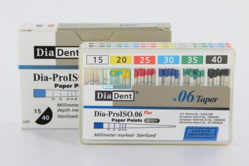 DIADENT PAPERPOINTS .06 ASSORTED NR.15-40 (60st)