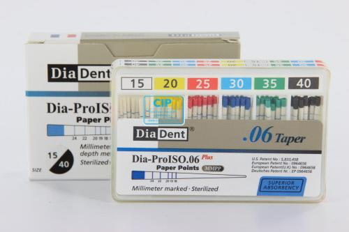DIADENT PAPERPOINTS .06 ASSORTED NR.45-80 (60st)