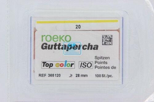 ROEKO GUTTA PERCHA POINTS TOP-COLOR NR.20 GEEL (100st)