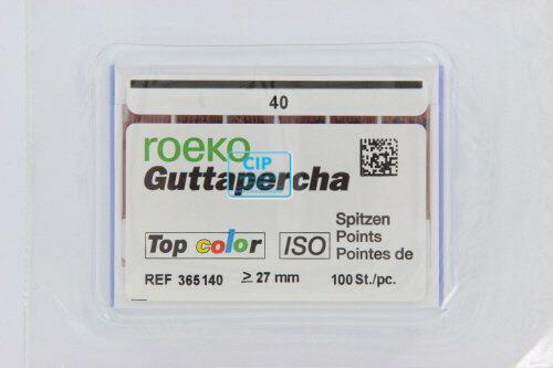 ROEKO GUTTA PERCHA POINTS TOP-COLOR NR.40 ROOD (100st)