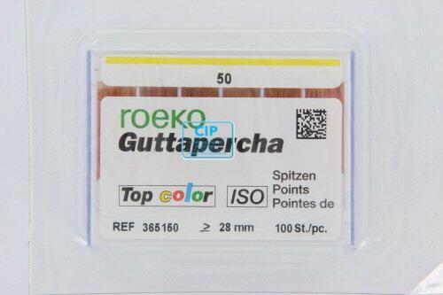 ROEKO GUTTA PERCHA POINTS TOP-COLOR NR.50 GEEL (100st)