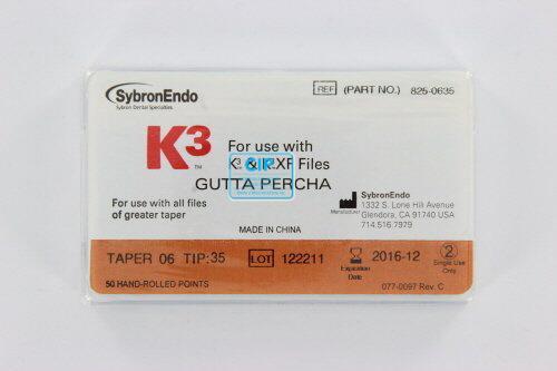 SYBRON-ENDO K3 GUTTA PERCHA POINTS .06 NR.35 (50st)