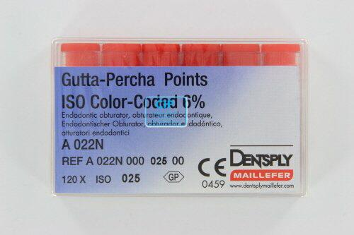 MAILLEFER GUTTA PERCHA POINTS .06 NR.25 ROOD (120st)