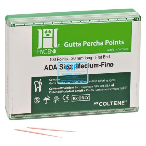 HYGENIC GUTTA PERCHA POINTS MEDIUM-FINE H01223 (100st)