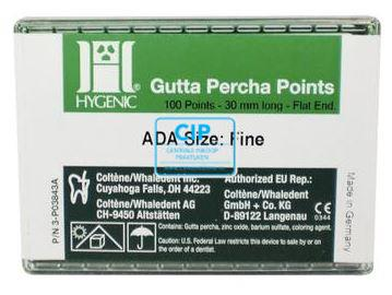 HYGENIC GUTTA PERCHA POINTS FINE H01224 (100st)