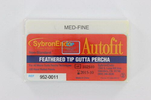 SYBRON-ENDO ANALYTIC AUTOFIT FEATHERED GUTTA PERCHA POINTS MEDIUM-FINE (100st)