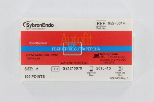 SYBRON-ENDO ANALYTIC AUTOFIT FEATHERED GUTTA PERCHA POINTS MEDIUM (100st)