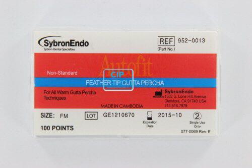 SYBRON-ENDO ANALYTIC AUTOFIT FEATHERED GUTTA PERCHA POINTS FINE-MEDIUM (100st)