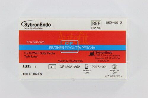 SYBRON-ENDO ANALYTIC AUTOFIT FEATHERED GUTTA PERCHA POINTS FINE (100st)