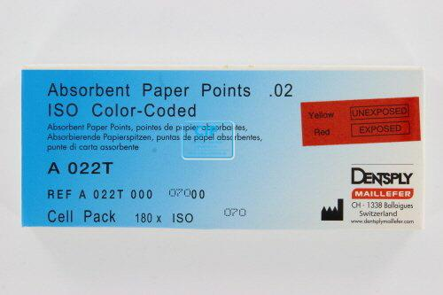 MAILLEFER PAPERPOINTS CELLPACK .02 NR.70 GROEN (180st)