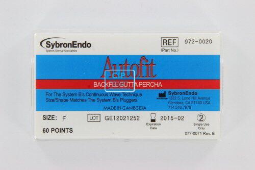 SYBRON-ENDO ANALYTIC AUTOFIT BACKFILL GUTTA PERCHA POINTS 0.6 FINE (60st)