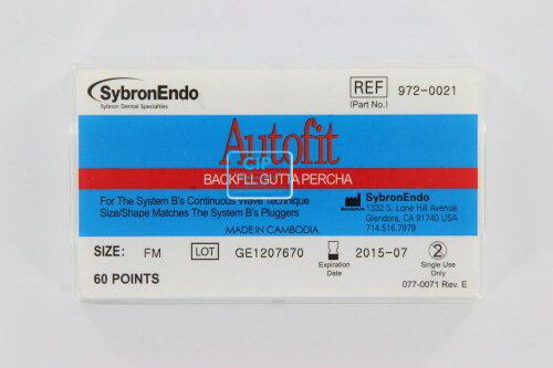 SYBRON-ENDO ANALYTIC AUTOFIT BACKFILL GUTTA PERCHA POINTS 0.8 FINE-MEDIUM (60st)