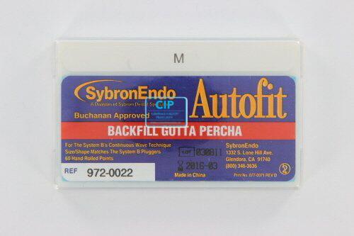 SYBRON-ENDO ANALYTIC AUTOFIT BACKFILL GUTTA PERCHA POINTS 0.10 MEDIUM (60st)