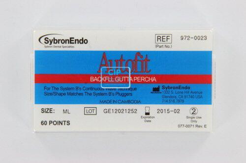 SYBRON-ENDO ANALYTIC AUTOFIT BACKFILL GUTTA PERCHA POINTS 0.12 MEDIUM-LARGE (60st)