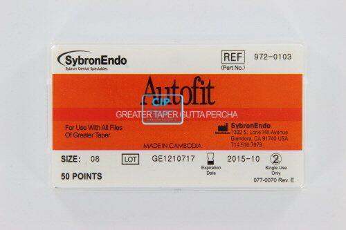 SYBRON-ENDO ANALYTIC AUTOFIT GREATER TAPER GUTTA PERCHA POINTS .08 (50st)