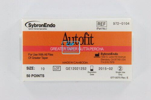 SYBRON-ENDO ANALYTIC AUTOFIT GREATER TAPER GUTTA PERCHA POINTS .10 (50st)